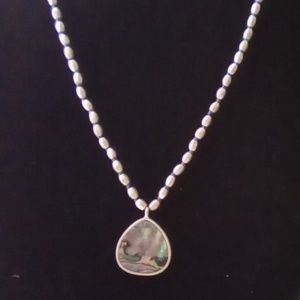 """Kenneth Cole of New York 18"""" Abalone Necklace."""